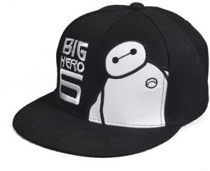 6924ebda68035 Cute fashion Baymax hip-hop sunhat simple baseball hat for men and women  black BH011-2