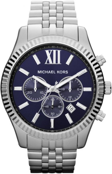 e20c444e6b59 Michael Kors Lexington Watch for Men - Analog Stainless Steel Band - MK8280