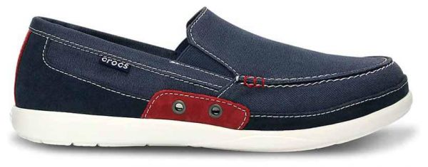 e059fd242 Crocs 14392 Walu Accent Loafers For Men - Navy And True Red