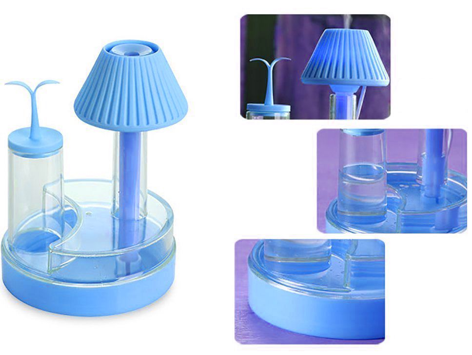 Crystal Night Light USB Desk Lamp Humidifier with Mist Mode and LED Lights