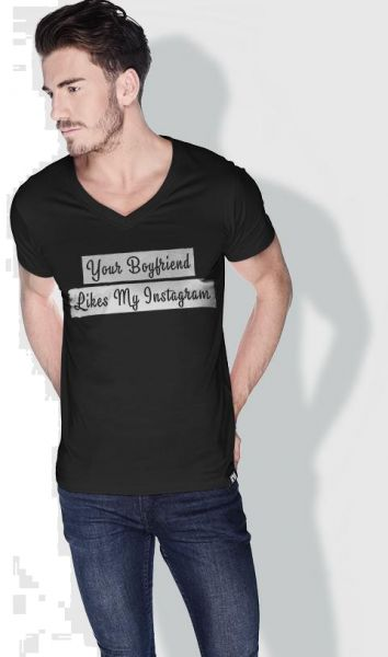 5d285205 Creo Your Boyfriend Likes My Instagram Funny T-Shirts For Men - Xl ...