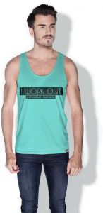 6ddd93becbe8a5 Creo I Work Out Funny Tanks Tops For Men - Xl