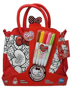 d8bbad273b Color Me Mine EX86324 Hello Kitty Tote Bag Craft Activity Kit