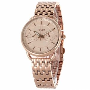 67e55f06e Fossil Womens ES3713 Tailor Multifunction Rose Gold Tone Stainless Steel  Watch
