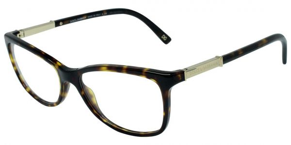 Buy Dolce & Gabbana Rectangular Full Rim Frames for Women - Tortoise ...