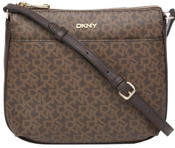 41b48e6673 DKNY R3514301-241 Heritage Top zip Monogram Logo Cross Body Bag for ...