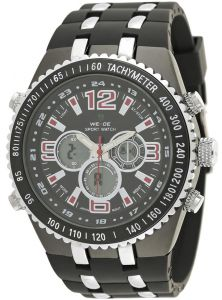 Weide Men s Red Black Dial Rubber Band Watch - WH1107B-4C ac71008eb78