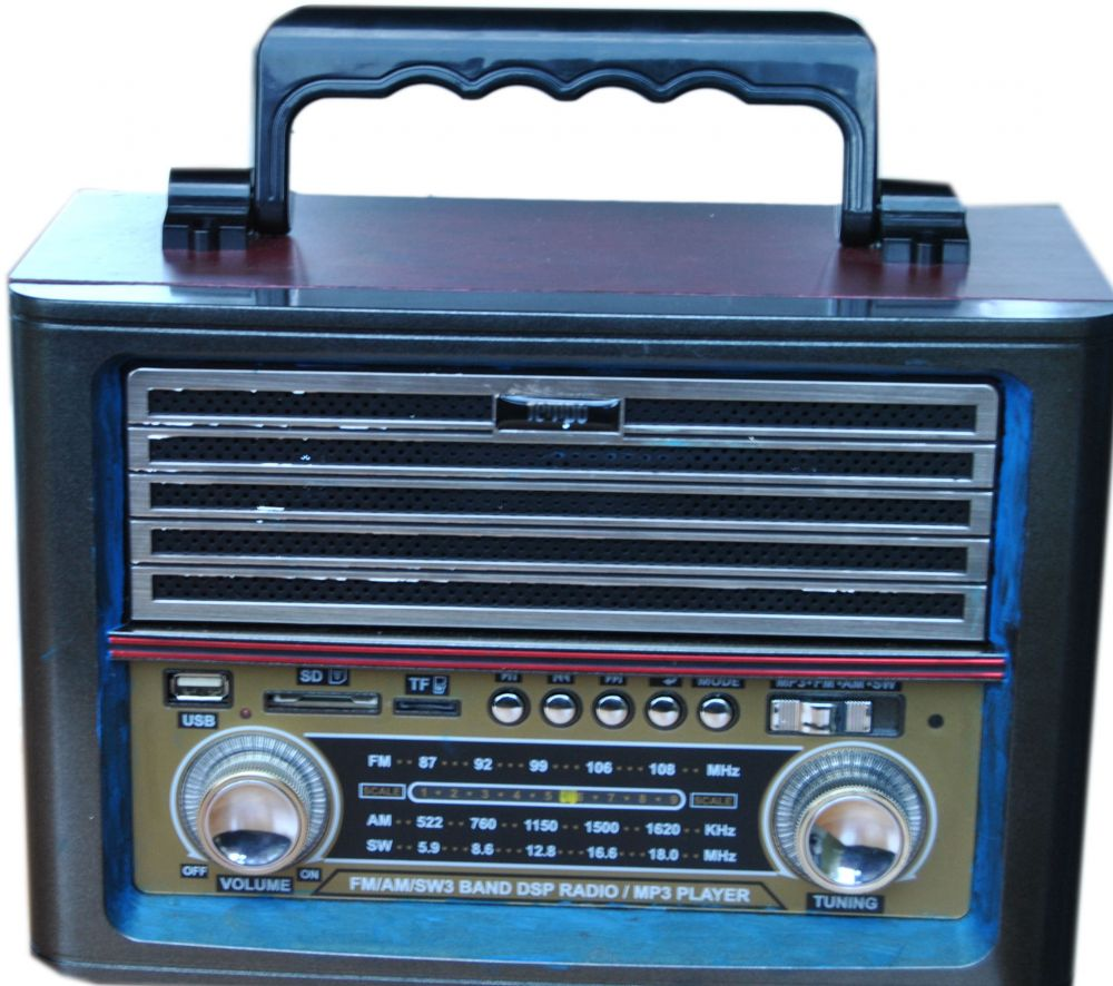 Portable Retro Radio Boombox with USB/SD/TF Card Play
