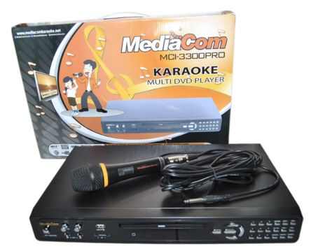 MediaCom MCI 3300 Pro DVD Karaoke Player with 1 Corded Mic