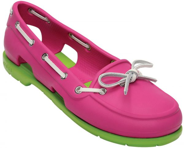 db970b934 Crocs Beach Line Women 14261 Flat Shoes For Women-Fuchsia