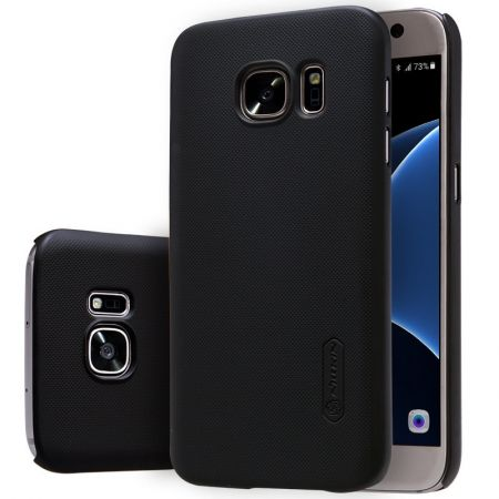 cheaper ef106 29e1d Nillkin Samsung Galaxy S7 Edge Frosted Back Hard Case Cover - Black