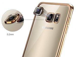 Back case for Samsung Galaxy S7 Edge Women Plating TPU Soft shell thin cover EDS7-12B Gold