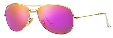 40161ea814d Ray-Ban Cockpit Mirror Collection Aviator Sunglasses for Women ...