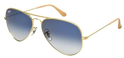 cfb509ab4b Ray Ban Aviator Gold Unisex Sunglasses - RB3025-001-3F-58-14-135. by Ray-Ban