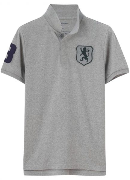 Giordano Lion Badge Polo T Shirt For Men M Gray Souq Uae