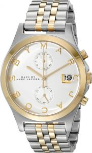 312f9c403778a ... Slim Women's Silver Dial Stainless Steel Band Chronograph Watch -  MBM3381. by Marc by Marc Jacobs, Watches -