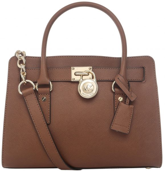 Michael Kors 30s2ghms3l 230 Hamilton Saffiano Medium Satchel Bag For Women Leather Luggage