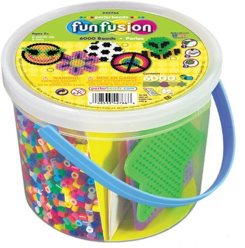 Perler Beads 6000 Count Bucket-Multi Mix