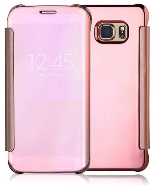 Clear View Flip Cover For Samsung Galaxy S7 Edge - Rose Gold (screen  protector)   Souq - UAE 38e7e908844d