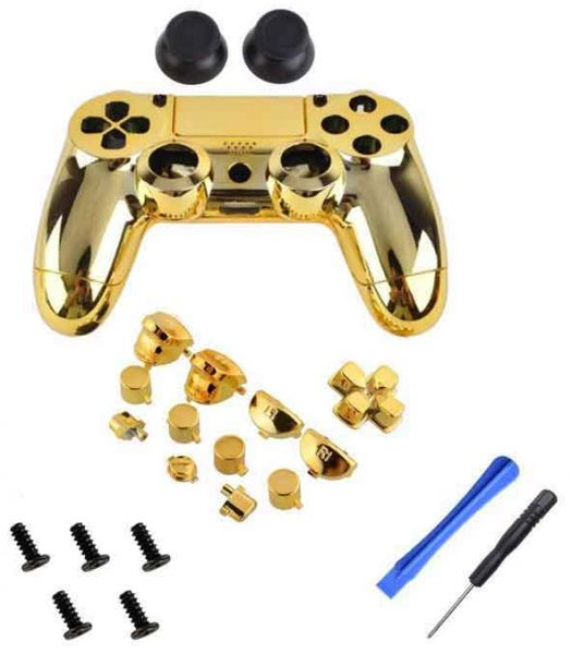 For PlayStation PS4 Controller - Coverking Metallic Coating Plastic