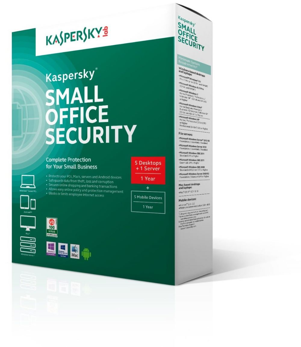 KASPERSKY SMALL OFFICE SECURITY V4 - 5PLUS 1USER