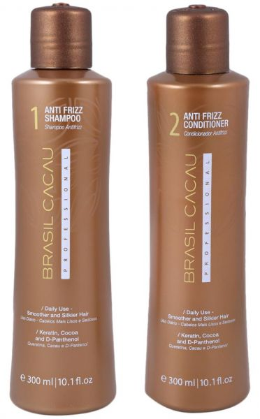 brasil cacau hair shampoo and conditioner set of 2 2 x 300 ml