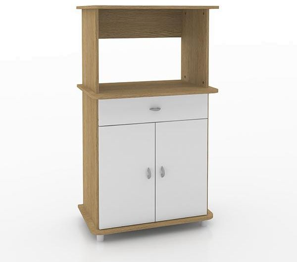 Ditalia Wooden Double Door Kitchen Cabinet With One Drawer And