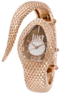 8d9bece5d Just Cavalli Poison Women's Brown/Silver Dial Metal Band Watch -R7253153501