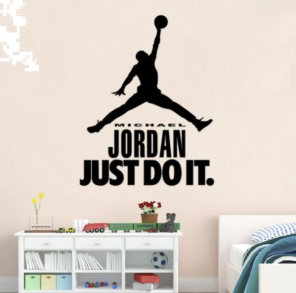 Creative Diy Home Decor Stickers Michael Jordan Basketball Wall Decals