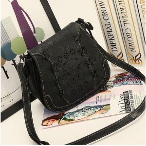 Fashion Black Shoulder Bag For Women Hollow Butterfly Crossbody Bag Summer  Style Ladies HandBag 71a6d206038e3