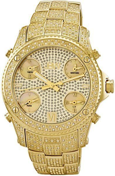 on watches buy watches online at best price in riyadh jbw jet setter men s 234 diamonds gold dial gold plated stainless steel band watch jb 6213 a