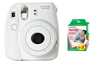 Fujifilm instax Mini 8 Instant Polariod Film Camera - White + Mini Instax  Polaroid Film, 2 Pack 10x2 Sheets - Bundle Kit   Souq - UAE 2eabdd5d0c