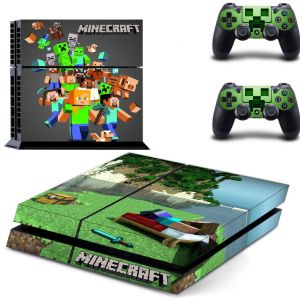 Playstation Ps4 Game Console And Controls Skins Sticker Minecraft