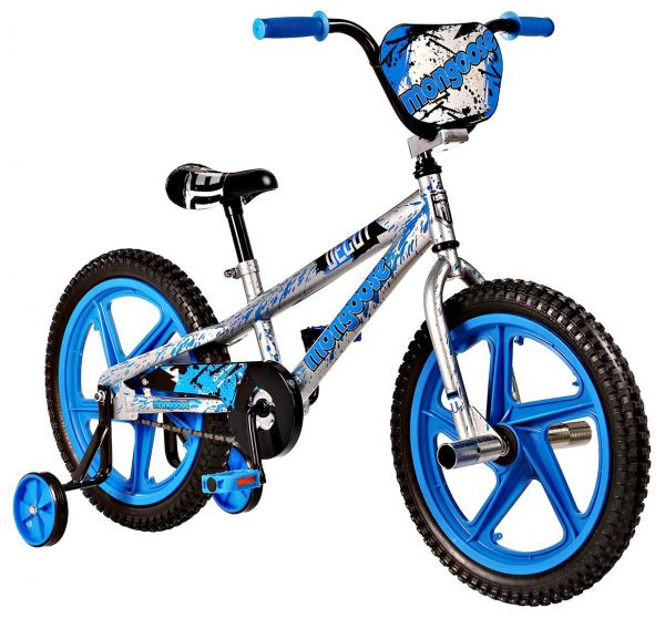 Mongoose Boys 18 Inch Decoy Bicycle - R1824A, Blue/White/Black ...