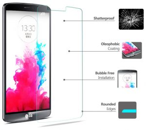 Tempered Glass HD Clear Anti Dust Scratch Fingerprint Screen Protector For LG G3 [TLB-181]