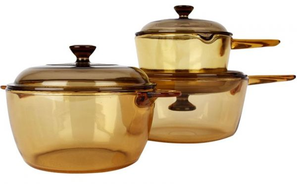 Visions Glass Cookware 6 Piece Set Brown Souq Uae
