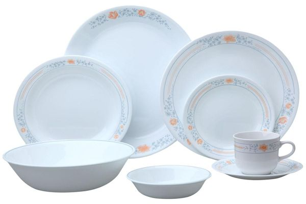 Corelle Stoneware Apricot Grove Dinnerware Set 76 Pieces