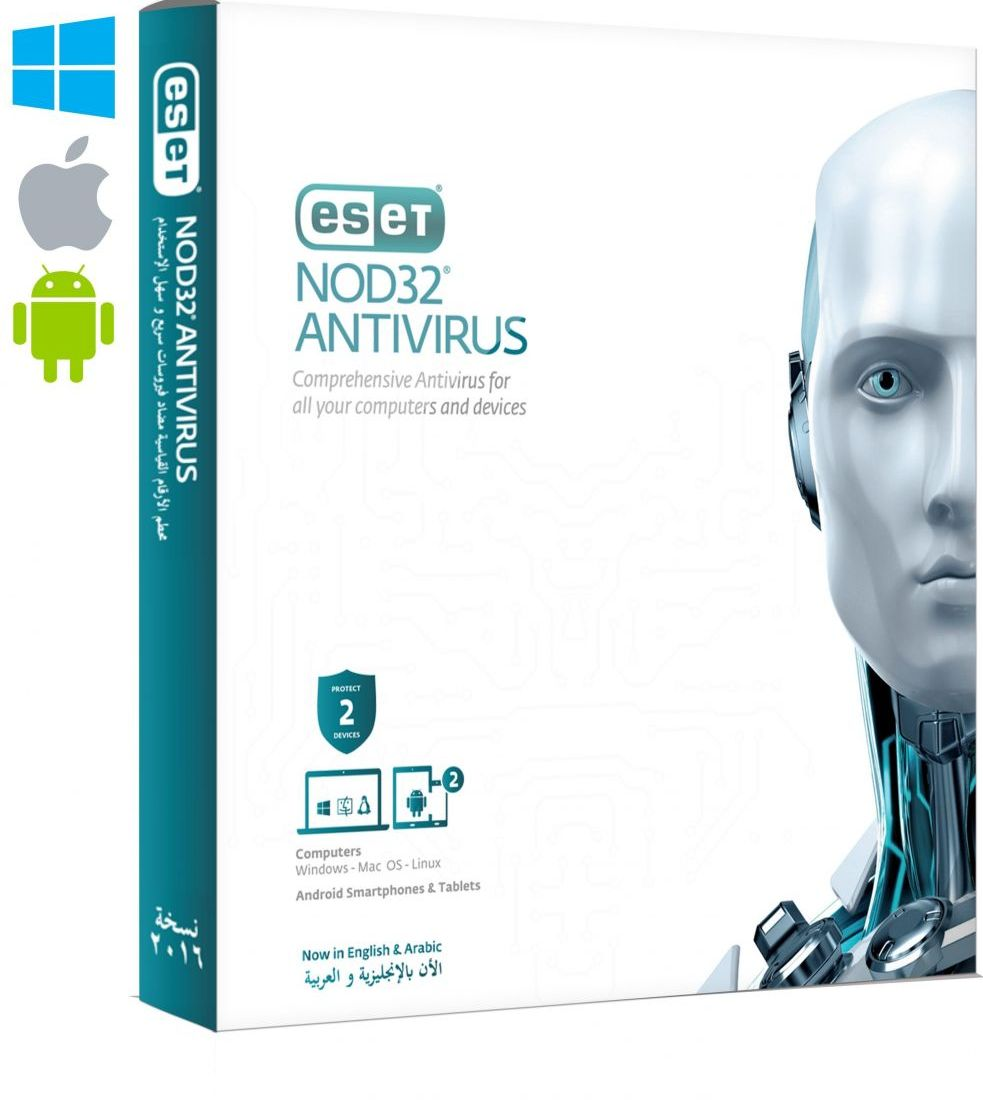 ESET Multi-Device NOD32 Antivirus Security Pack - 2 Devices, 1 Year