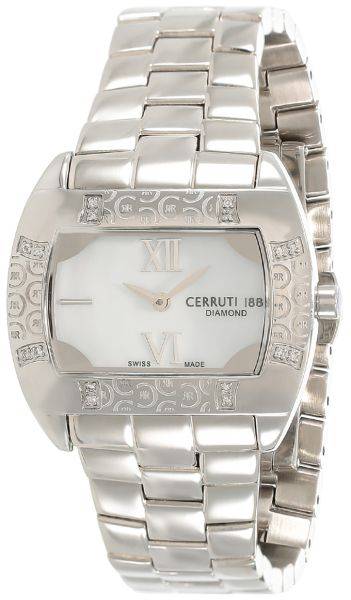 2a59e1bcc9 Cerruti 1881 Women's Mother of Pearl Dial Stainless Steel Band Watch ...