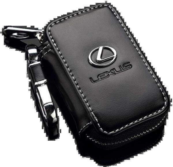 c7c87c1125bf Key Chain and Cow Leather Wallet with Lexus Logo for Key and Remote - Black  Color