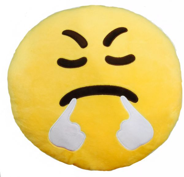 Price Review And Buy Emoji Yellow Round Cushion Pillow Size 40cm Classy Round Yellow Decorative Pillow