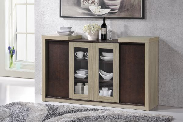 Souq Home Rsi Two Door Buffet Cabinet Brown Mocco 101 Uae