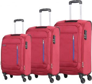 american tourister niue spinner luggage set of 3pcs 55 68 79cm r9500007 red