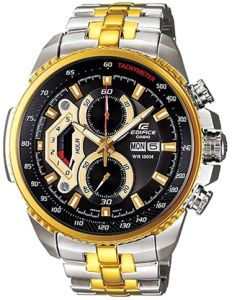 Casio Edifice Men s Black Dial Stainless Steel Band Watch - EF-558SG-1A 927d7bf69b
