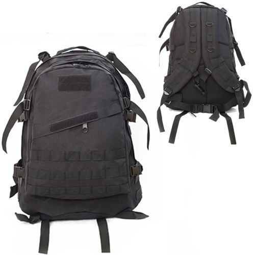 40L Molle 3D Tactical Outdoor Military Rucksack Backpack Bag Camping Hiking  Black  111a951b118f3