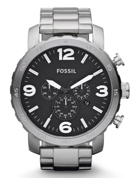12b8163d4ee Fossil Nate Watch for Men - Analog Stainless Steel Band - JR1353 ...