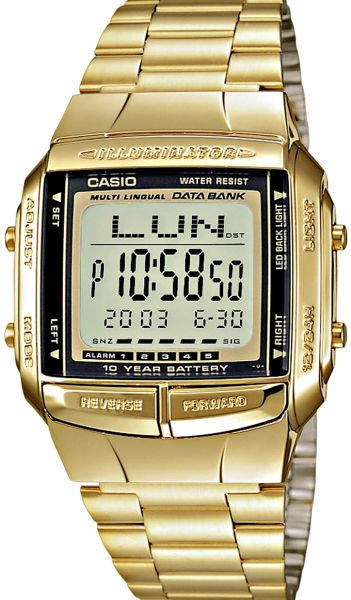 4aa4e25e662 Casio Data Bank Unisex Digital Dial Stainless Steel Band Watch - DB ...