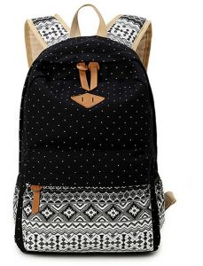 87fb02fe85fc9 Casual and simple canvas bag computer bag schoolbag backpack for unisex.  Black