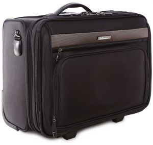 8dce6a4823a4 Eminent 18 Inch Safe Zipper Pilot Case with Trolley - V135-SZ-18 BK