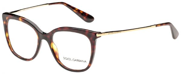 bbd786fdf40 Dolce   Gabbana Butterfly Full Rim Frames for Women - Havana   Gold ...